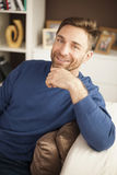 Handsome man at home Royalty Free Stock Photography