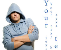 Handsome man in a hood Royalty Free Stock Images