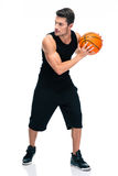 Handsome man im sports wear playing in basketball Royalty Free Stock Images