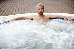 Free Handsome Man In Jacuzzi Stock Image - 13995531