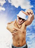 Handsome Man In White Hat Stock Photography