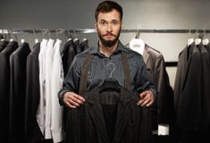 Handsome man with jacket Royalty Free Stock Photos