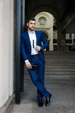 Handsome man in the jacket Royalty Free Stock Images