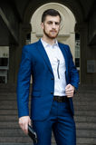 Handsome man in the jacket Royalty Free Stock Photography
