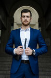 Handsome man in the jacket Royalty Free Stock Image