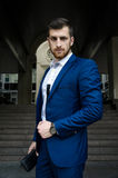 Handsome man in the jacket Stock Photography