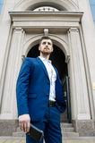 Handsome man in the jacket Stock Photo