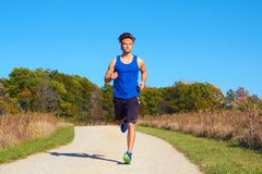 Handsome man jogging Royalty Free Stock Photo