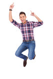 Handsome man jumping Royalty Free Stock Photo