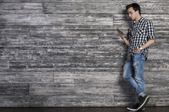 Handsome man listening to music Stock Image