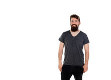 Handsome man with long beard Stock Photography