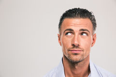 Handsome man looking away at copyspace Royalty Free Stock Images