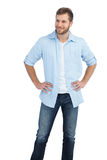 Handsome man looking away Royalty Free Stock Images