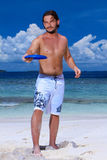 Handsome Man at Maldives Royalty Free Stock Photo