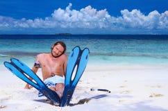 Handsome Man at Maldives Royalty Free Stock Photo