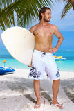 Handsome Man at Maldives Stock Photo