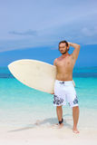 Handsome Man at Maldives Stock Images