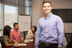 Handsome man in a meeting room Royalty Free Stock Photo