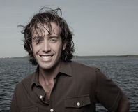 Handsome man with messy hair Royalty Free Stock Photography