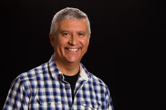 Handsome man. Handsome middle age man studio portrait Royalty Free Stock Photos