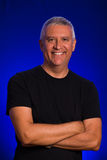 Handsome man. Handsome middle age man in a studio portrait Stock Photos