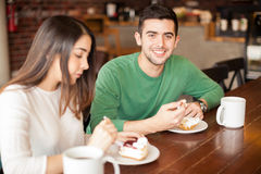 Handsome man in the middle of a date Stock Photo