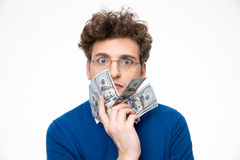 Handsome man with money Stock Image