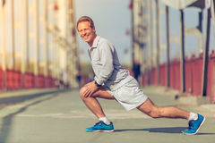 Handsome man during morning run Stock Images