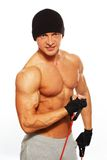 Handsome man with muscular body Stock Photos