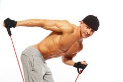 Handsome man with muscular body Stock Image