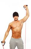 Handsome man with muscular body Stock Photo