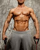 Handsome man with muscular body Royalty Free Stock Image