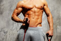 Handsome man with muscular body Royalty Free Stock Photos