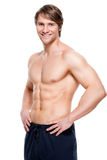 Handsome man with muscular torso. Royalty Free Stock Photography