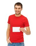 Handsome man with note card Royalty Free Stock Photos