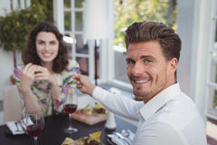 Handsome man offering engagement ring to woman Royalty Free Stock Image