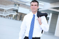 Handsome Man at Office Building Stock Images