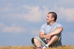 Handsome man outdoor Royalty Free Stock Photos