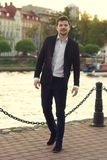 Handsome man outdoor portrait Stock Images