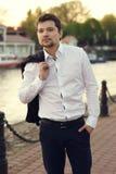 Handsome man outdoor portrait Stock Image