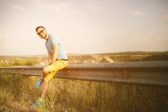 Handsome man outdoors portrait Stock Image