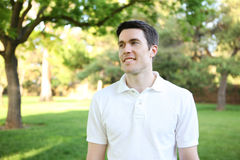 Handsome Man in Park Royalty Free Stock Photo