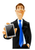 Handsome man with phone Stock Photography