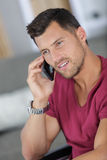 Handsome man with phone Royalty Free Stock Photo