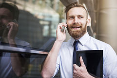 Handsome man on the phone Royalty Free Stock Photo