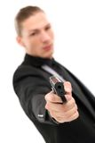 Handsome man with pistol Royalty Free Stock Photography