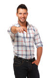 Handsome man pointing at you Royalty Free Stock Photography