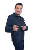 Handsome man pointing at you Stock Photography