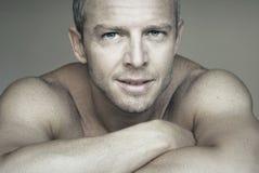 Handsome man portrait close Stock Image
