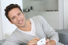 Handsome man portrait Stock Photos